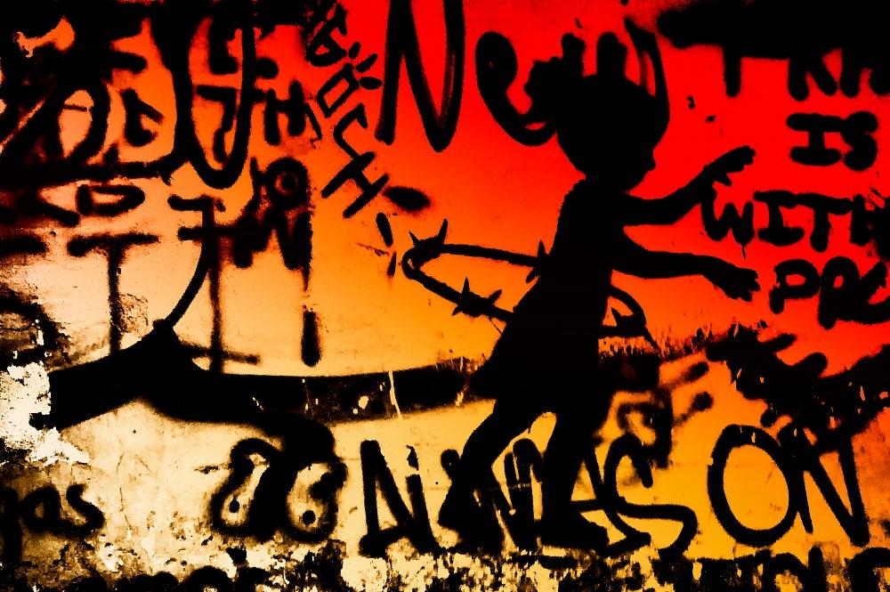 04/2019 - Betlemme - 05/2019 Soggetto ripreso: Graffiti / Street Art - Artista Cakes Stencils